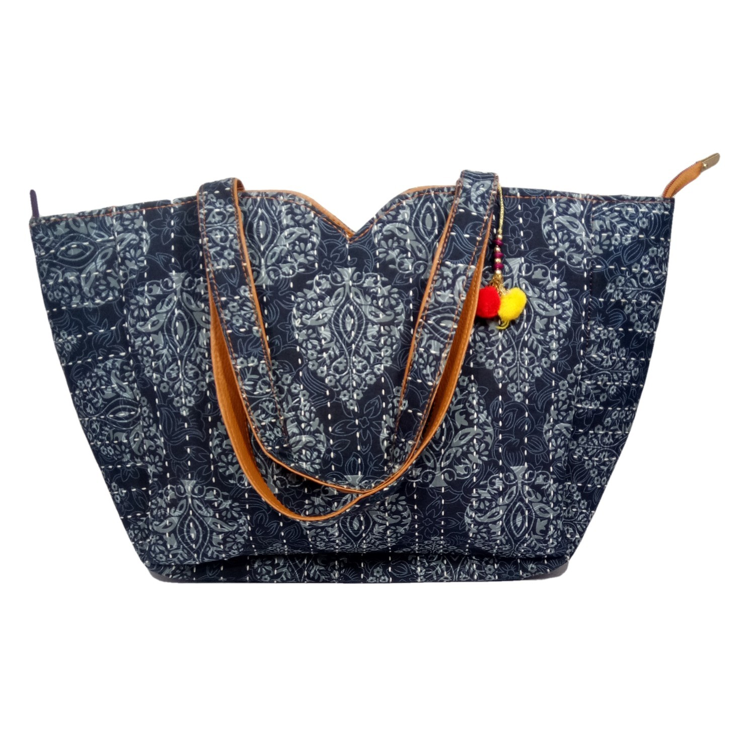 Handmade Excellent Blue Genuine Shoulder Bag by Women Self Help Groups of Rajasthan