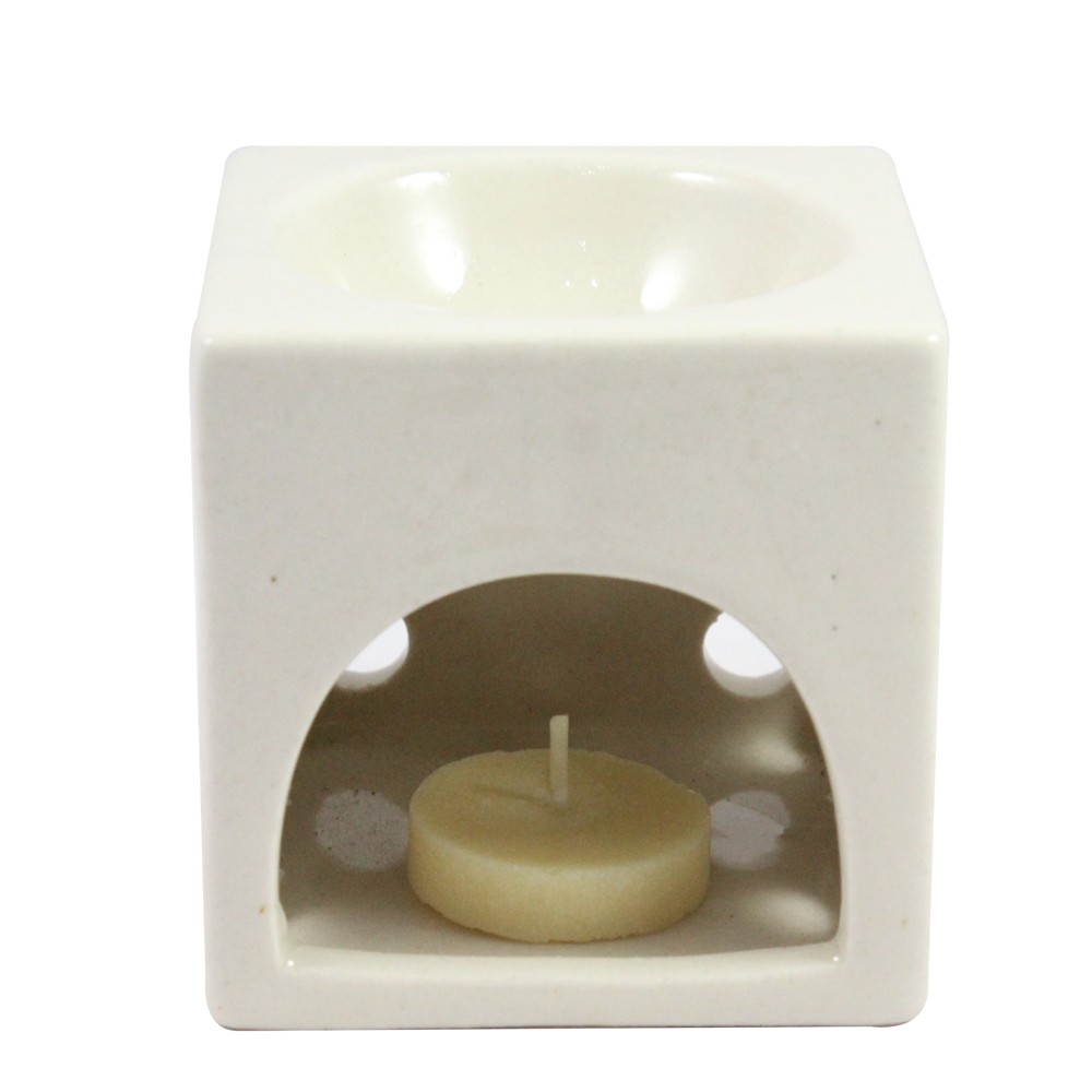 Handmade Ceramic Clay Aroma Oil Burner & Tea Light Lamp Candle Burner