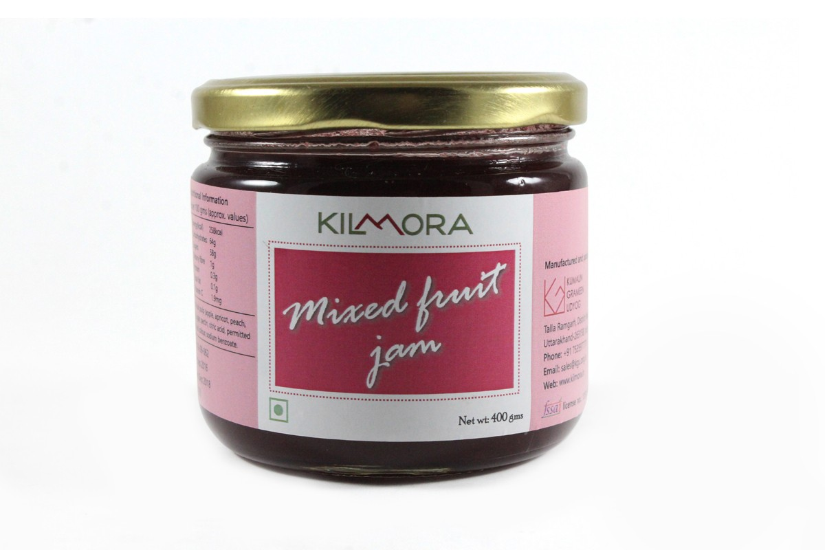 Kilmora Natural Mixed Fruit Jam With Fruit Pulp By Hill Farmers