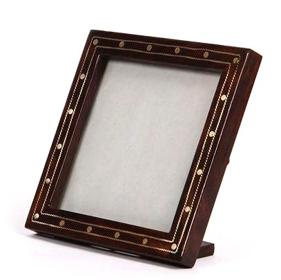 Buy Classy Ethnic Wooden Photo Frame With Metal Art-India Meets India
