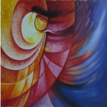 Exclusive Red And Blue Wall Hanging by Differently Abled Artist