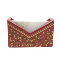 Exclusive Wooden Card Holder With ancient mughal art painting by Rural Artisans