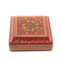 Exclusive Wooden Brick Red paper weight With ancient mughal art painting by Rural Artisans