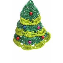 Dark green Handmade Crochet Work Decorative Xmas Tree Hanging by Women Self Help Groups
