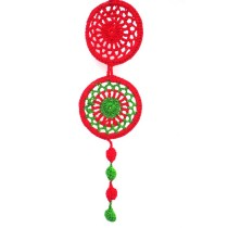 Handmade Eco Friendly Red Dream Catcher Hanging by Women Self Help Groups