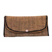 Black & Beige 3 Fold Purse