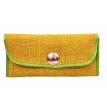 Three Fold Durable Green Jute Wallet