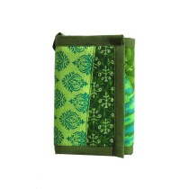 Green Printed Folded Cloth Wallet
