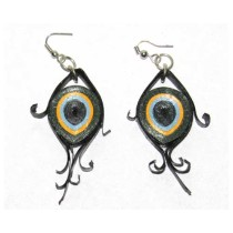 Multicoloured Fish Eye Paper Quilled Earring
