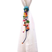 Unique Handmade Colorful Curtain Holder with Tassels by Disadvantaged Women