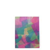 Handmade Colorful Geometrical Print Office Folder
