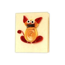 Cute Handcrafted Paper Quilled All Occasion Gift Tags (Set of 4) by Women Self Help Group