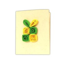 Handmade Nature Paper Quilled All Occasion Gift Tags (Set of 4) by Women Self Help Group