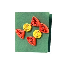 Handmade Festive Paper Quilled All Occasion Gift Tags (Set of 4) by Women Self Help Group