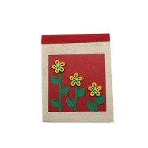 Green-Red Plant Notepad