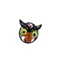 Multi-Coloured Owl Ring in Quilling Design