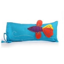 Funky Handcrafted Fish Appliqué Work Cushion & Cushion Cover by Marginalized Women