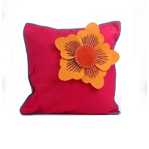 Funky Handcrafted Flower Appliqué Work Cushion & Cushion Cover by Marginalized Women
