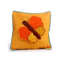 Funky Handcrafted Butterfly Appliqué Work Cushion & Cushion Cover by Marginalized Women