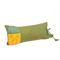 Funky Handcrafted Hut Appliqué Work Cushion & Cushion Cover by Marginalized Women