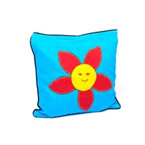 Funky Handcrafted Floral Appliqué Work Cushion & Cushion Cover by Marginalized Women