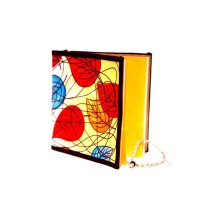 Red-Yellow Leaves Printed Cloth Diary