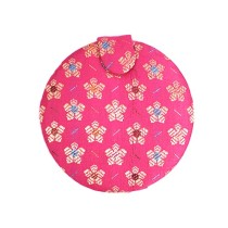 Pink Floral Patterned Round Purse Mirror By Trafficking Survivors