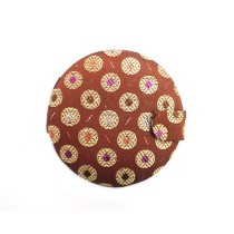 Brown Patterned Round Purse Mirror By Trafficking Survivors
