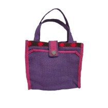 Purple Jute Bag by Adults with Autism