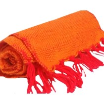 Orange And Red Hand Knitted Muffler