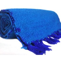 Blue Hand Knitted Muffler