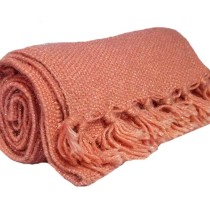 Cute Peach Hand Knitted Muffler