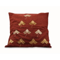 Maroon Cushion Cover with Original Phulkari Embroidery