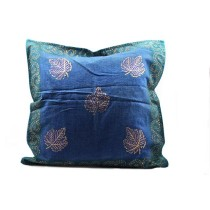 Golden Hand Block Printed Cushion Cover
