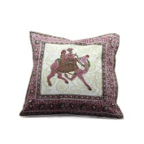 Rajasthani Camel Block Print Cushion Cover