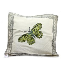 Mughal Printed Butterfly Cushion Cover