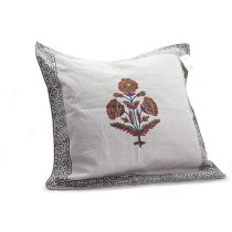 Flower Mughal Printed Cushion Cover