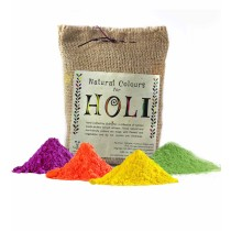 Natural Holi Colors Gulaal pack of 4 by Rag pickers in Ghazipur