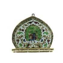 Exclusive Key Chain Holder With Meenakari Work by Rajasthani Artisans