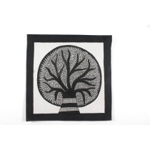 Classy Black & White Tree of life Madhubani Painting by Artist from Bihar