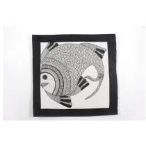 Exclusive Giant Fish Madhubani Wall Hanging by Artist from Bihar