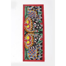 Handmade Fish Pond Madhubani Bookmarks by Artist from Bihar