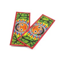 Multicolor Sun God Madhubani Bookmark by Artist from Bihar