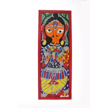 Authentic Radhe Shayam Madhubani Wall Hanging by Artist from Bihar
