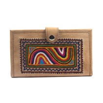 Stylish Leather Embroidery Passport Holder Pouch by Artisans from Rajasthan