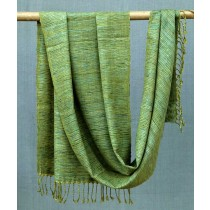 Exclusive Green Eri Silk Merino Wool Stole by artisans from Uttrakhand