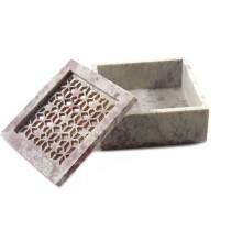 Beautiful Two Color Stone Jaali Work Jewelry Box by Artisans from Agra