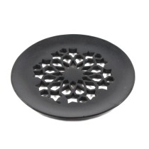 Black Exclusive Handcrafted Jaali Design Coasters (4) by Artisans from Agra