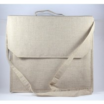 Beige Cotton Jute Laptop Bag With Great Finish by Prison Inmates
