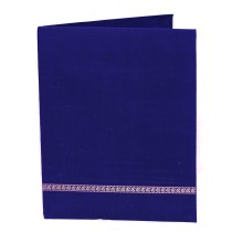 Blue Cloth Office Folder With Pockets Inside by Prison Inmates